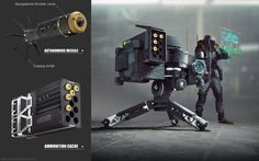 Micro nuke, Daniel Joustra on ArtStation at… Sci Fi Weapons, Weapon Concept Art, Fantasy Weapons, Gun Turret, Future Weapons, Tower Defense, Modelos 3d, Futuristic Design, Military Weapons