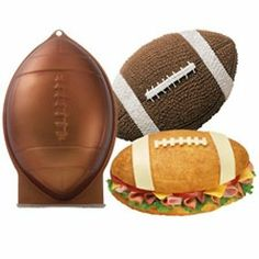 Wilton N 10 Football Cake Pan. We are authorized Wilton distributors. uses 2 layer cake mix. Pan is tall and wide and deep. It is only available for a combined weight of 4 lbs or less. Wilton Cake Pans, Cake Baking Pans, Football Birthday, Football Food, Sports Birthday Cakes, Football Cakes, Kids Football, Football Fever, Rugby Cake