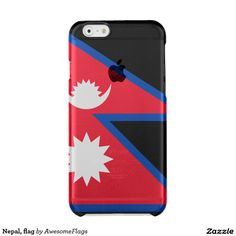 Nepal, flag clear iPhone 6/6S case