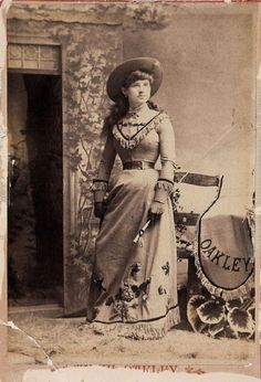 Annie Oakley lost her father when she was a young child. At age 8, she began shooting to feed her family, and also sold game to support her mom and siblings.