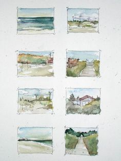 Watercolor Sketchbook, Watercolor Painting Techniques, Art Sketchbook, Watercolor And Ink, Watercolor Illustration, Painting & Drawing, Watercolor Paintings, Watercolors, Simple Watercolor