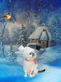 Зимняя сказка - анимация на телефон №1441027