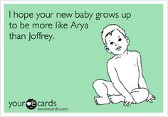 Game of Thrones baby card