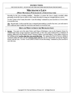 Lien Waiver Form  Resume Pics And Letter Sample Pics  Lien