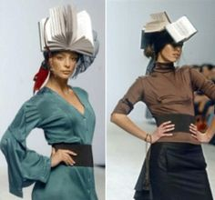 Book Hat by Andre Tan was shown during a fashion show at the spring-summer pret-a-porter Fashion Week in Kiev, Ukraine.