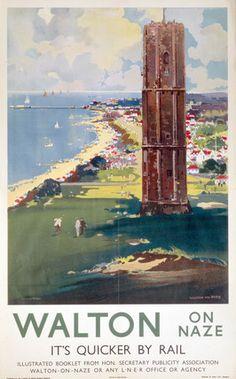 Dovercourt Bay Harwich Railway Vintage Retro Oldschool Old Good Price Poster
