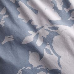 The Hill-Side giant floral print bed linens   CB2