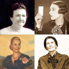 Mujeres argentinas que hicieron historia: Cecilia Grierson, Victoria Ocampo, Eva Perón, Alicia Moreau de Justo.