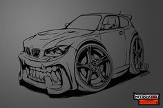 BMW 1 series with teeth in BeastedUp style.