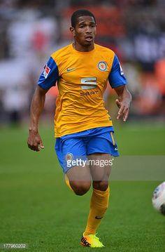 Simeon Jackson of Braunschweig in action during the Bundesliga match bewteen Eintracht Braunschweig and Eintracht Frankfurt at Eintracht Stadion on...