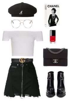 """""""chanel"""" by aryakhannal on Polyvore featuring kangol, Chloé, Gucci, Prada and Chanel"""