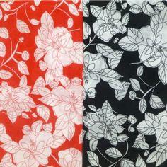 Summer Big Flowers Polycotton Fabric (36)