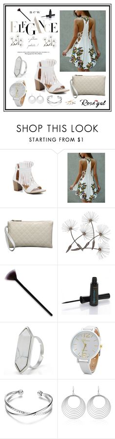 """""""Floral Print Lace Up Asymmetrical Club Dress"""" by edin-levic ❤ liked on Polyvore"""