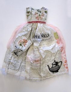 Little paper dress,perfect for my vintage inspiration board!!!