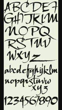 Letterhead Fonts / LHF Scriptana / Hand Lettered Script Fonts - Fonts - Ideas of Fonts - Letterhead Fonts / LHF Scriptana / Hand Lettered Script Fonts Tattoo Fonts Alphabet, Hand Lettering Fonts, Creative Lettering, Calligraphy Alphabet, Handwriting Fonts, Calligraphy Fonts, Typography Letters, Lettering Design, Lettering Tutorial