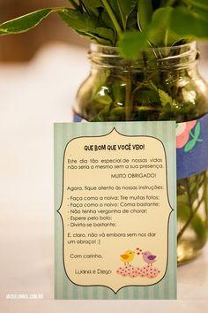 Cartão para colocar nas mesas: pode colocar informações do instagram, etc.