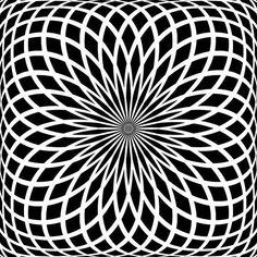Vector Seamless Black and White Lace Floral Pattern. Geometric Patterns, Geometric Tattoo Pattern, Sacred Geometry Patterns, Geometric Mandala, Geometric Designs, Geometric Shapes, Illusion Photos, Illusion Art, Op Art