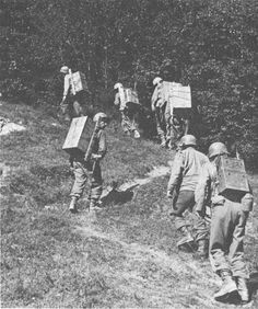 American troops carrying supplies inland from Anzio, Italy, May-Jun 1944 Source   United States Army