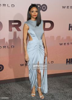 News Photo : Thandie Newton attends the Premiere of HBO's. Westworld Season 3, Thandie Newton, In Hollywood, Goddesses, Muse, Nice Dresses, Red Carpet, Special Occasion, Seasons
