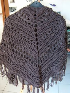"""I've always wanted to make a crocheted shawl for myself, and finally, after some weeks of hard work, i've done it! I've followed the """"It's a..."""