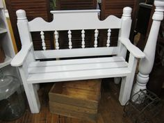 "Headboard bench ""SOLD"" | CreateAgain.com"