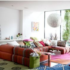cushions. lots. and big windows.