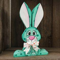 Wood Easter Decor Spring Home Decor Easter Bunny Bunny Easter Gifts For Kids, Easter Crafts, Easter Projects, Easter Ideas, Bunny Bunny, Easter Bunny, Bunnies, Diy Easter Decorations, Craft Show Ideas