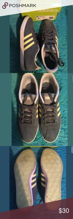 Women's Adidas Neon Green Gray Courtset Sneakers NOT APART OF BOGO. Gray and Neon green low top Adidas Courtset sneakers. Worn once, practically new! Women's size 9.5 adidas Shoes Sneakers