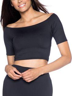 Matte Off the Shoulder Crop (AU $45AUD / US $40USD) by Black Milk Clothing