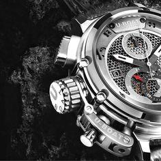 Highlight from Baselworld2016 and U-BOAT . The new Chimera Tungsteno Net Chrinograph. #uboat #uboatwatch #italofontana #madebyuboat #medinitay #baselworld2016 #menswatch #limitededition #lefthookcrown #watch #watches #watchesofinstagram #watchoftheday #picoftheday #watchfam #watchgeek #instawatch #watchaddict #horology #luxury #luxurylife #luxurybrand #dailywatch #watchanish #watchanish