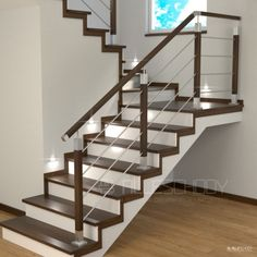 Indoor Stair Railing, Stair Railing Design, Staircase Railings, Wooden Door Design, Wooden Doors, Wooden Steps, House Stairs, Home Collections, Decoration