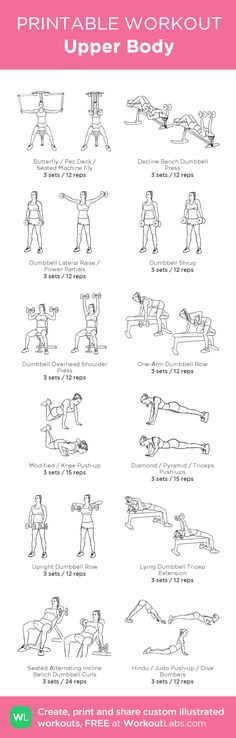 Upper Body my custom workout created at Worko Trx, Weight Routine, Printable Workouts, Monthly Workouts, 30 Day Fitness, 30 Day Workout Challenge, How To Run Faster, I Work Out, Aerobics