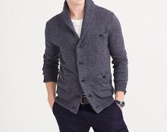 J. Crew Marled Navy Cotton Cardigan | Autumnal Temptation – Best Looking 2015 Fall Arrivals for Men on Dappered.com