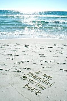 I am thankful for the beach....⭐... ✌ re-pinned by http://www.waterfront-properties.com