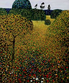 Art by Gustav Klimt - Field of Poppies Kandinsky, Klimt Art, Baumgarten, Landscape Paintings, Oil Paintings, Art History, Art Nouveau, Art Photography, Art Gallery
