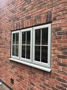 Double glazed windows and doors Nottingham Derby Leicester Coloured Upvc Windows, Grey Windows, Porch Windows, Wooden Windows, Front Windows, Windows And Doors, Wooden Window Design, Door Design, Window Frames