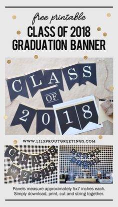 2018 Graduation Banner - Free Printable from Lil' Sprout Greetings
