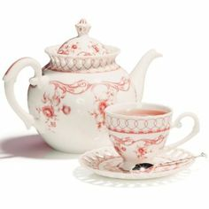 Coastline Imports Pink Vine Teapot : traditional from Stash
