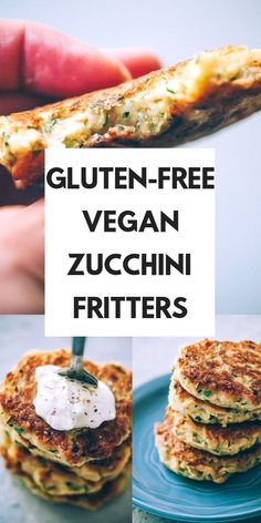 These easy, healthy Gluten-Free Vegan Zucchini Fritters are made with chickpea flour for added nutrition and depth. Packed with the perfect blend of spices, these delightful vegan fritters are beyond DELICIOUS, too! Keto Vegan, Sans Gluten Vegan, Vegan Foods, Vegan Vegetarian, Vegetarian Recipes, Vegan Zucchini Recipes, Eating Vegan, Vegetarian Appetizers, Raw Food Recipes