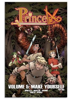 (Action Lab Entertainment - Diamond) Fresh from fighting vampires, zombies and giant creatures in the swamp-Princess Adrienne, Bedelia the Blacksmith and Sparky the Dragon are in for their biggest adventure yet! Join our team of fearless ladies as they set off into the mountains to save twin princesses Andrea and Antonia. They'll meet a team of dragon slaying dwarf women, a farm full of trained monsters and perhaps some of their most dangerous foes yet! PRINCELESS VOL 5: MAKE YOURSELF