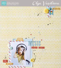 Music Layout from A Perfect Summer Collection. #echoparkpaper