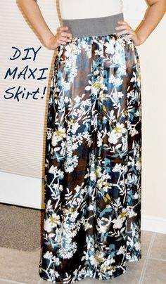 Individual Rivalry: IT'S HERE!!!! DIY MAXI SKIRT TUTORIAL! Because I'm short and maxis from the store will just never work