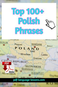 Inside: 100 Polish phrases with English meanings. Also, you get a free audio lesson. Important resource for beginner learners. Learn Polish, Polish Words, Polish Language, Visit Poland, Poland Travel, Language Lessons, Thinking Day, Polish Recipes, Family History