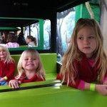 Girls enjoying the train ride