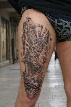 st michaels tattoo designs | st. Michael Tattoo by Inkstruktor on deviantART