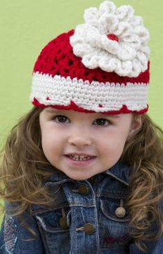 Free pattern for the Flower on this hat.  Love it!