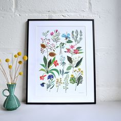 Floral 'Summer Plant' Print by Winter's Moon, the perfect gift for Explore more unique gifts in our curated marketplace. Snow Today, Winter Moon, Litho Print, Summer Plants, Spring Sign, Vintage Colors, Floral Flowers, Day Trips, Planting Flowers