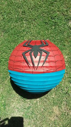 Spider-man Inspired Paper Lantern Decoration por adingkaki en Etsy