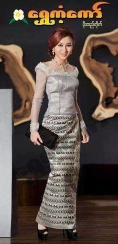 Myanmar silk dress