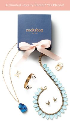 Try unlimited designer jewelry before you buy. Use promo code PINFREETRIAL at checkout to get 3 pieces curated just for you by Rocksbox stylists, delivered straight to your door!  #standout